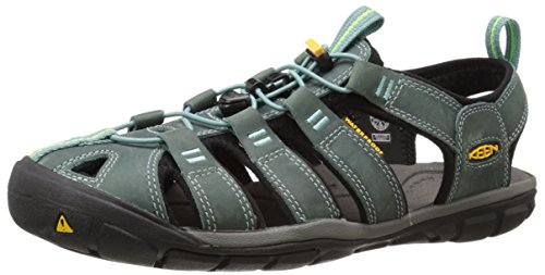 Keen Clearwater CNX Leather Womens Wandern Sandelholze - SS18 mineral blue-yellow