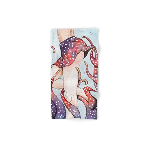 Society6 Peeking Tentacle Set of 4 (2 hand towels, 2 bath towels) by Society6