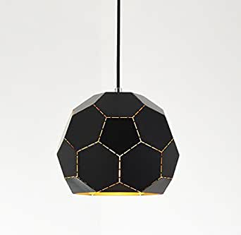Industrial Retro polyhedron Black Chandelier - Battaa C4013 (2017 New Design) Modern Pendant Lighting Vintage Loft Metal Ceiling Lamp For Bedroom Restaurant Cafe Bar 2-Year Warranty