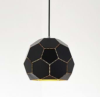 Industrial Retro polyhedron Black Chandelier - Battaa C4013 (2017 New Design) Modern Pendant Lighting Vintage Loft Metal Ceiling Lamp For Bedroom Restaurant Cafe Bar 2-Year Warranty