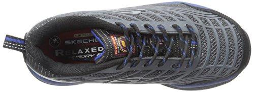 Skechers para el trabajo 77069 Conroe de acero del dedo del pie del zapato Trabajo Charcoal/Blue