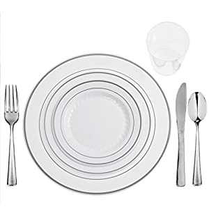 Amazon.com: FULL TABLE SETTINGS FOR 75 PLATES-CUPS-CUTLERY \
