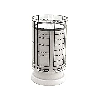 KitchenArt 1 Cup Adjust-A-Cup, Plastic, White