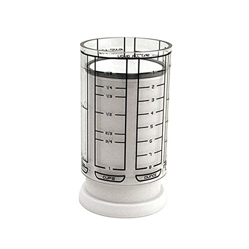 KitchenArt 23210 1 Cup Adjust-A-Cup, Plastic, White