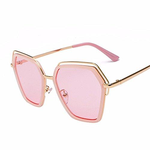 Dorado de Intellectuality Comprimidos Bastidor Huecos de Gafas Gafas Sol Gafas de Hombre polvo Marco Sol Salvajes polígono oro en Gafas Sol de Metal de Personalidad PRP8rHqU