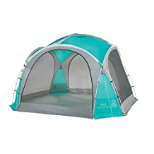 Coleman Mountain View Screendome Shelter, Center Height 7 ft 6 in, Teal / Gray, 12 ft x 12 ft