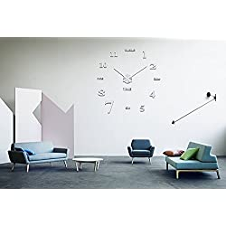 Moonsteps Contemporary Design Frameless DIY Decorative Wall Clock