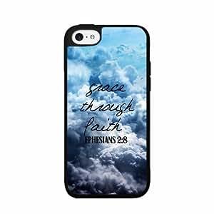 Grace Through Faith TPU RUBBER SILICONE Phone Case Back Cover iPhone 5c