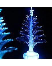 Romantisch geschenk kleurrijke vezel optische kerst creatieve kleurrijke flash kerstboom nachtlampje