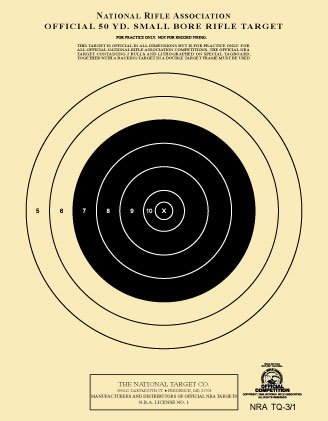 The National Target Company Official NRA Target, TQ-3/1, 50 Yd. Smallbore Rifle, Pack of 100 from The National Target Company