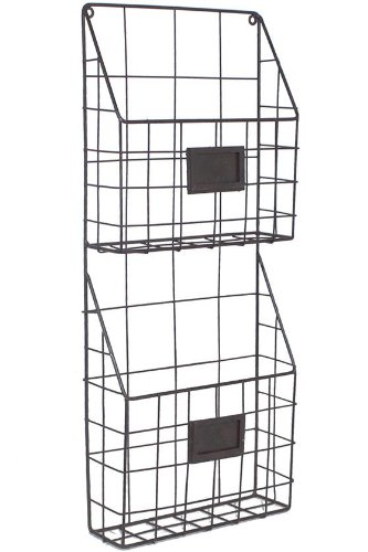 Mason Metal Hanging Rack  24 Hx3 Wx10 D  Light Grey