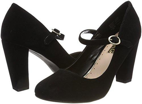 Punta Zapatos Kg Cassidy Para De Cerrada Schwarz Con Tacón Mujer Miss black AYqwOEdq