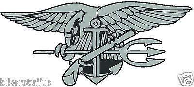 MFX Design USMC Navy Seal Window Bumper Sticker Decal Laptop Sticker Decal Die Cut Vinyl - Made in USA 3.5 in. x 2 in.