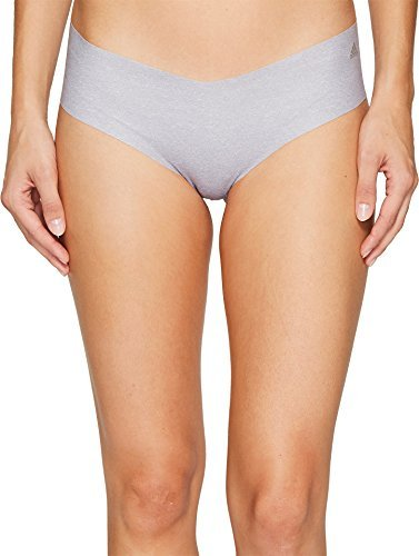 adidas Womens Seamless Underwear Single Hipster, Grey Static Heather/Matte Silver, X-Large