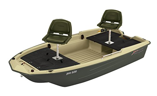Sun Dolphin Pro 120 Fishing Boat (Beige/Green, 11'3'') by Sun Dolphin