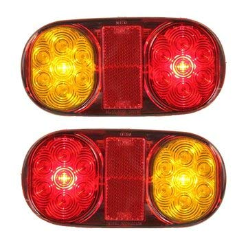 Led Trailer Tail Lights - Trailer Tail Lights - 2PCS LED Tail Trailer Lights For Truck Boat Ute Submersible No/Plate (Submersible Trailer Tail Lights) ()