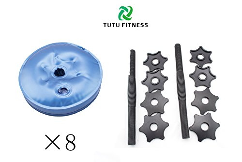 2017 Newest TuTu Fitness Water Filled Adjustable Dumbbells Perfect Traveling ABS Exercise Equipment For Arm Workout (Set of 2)