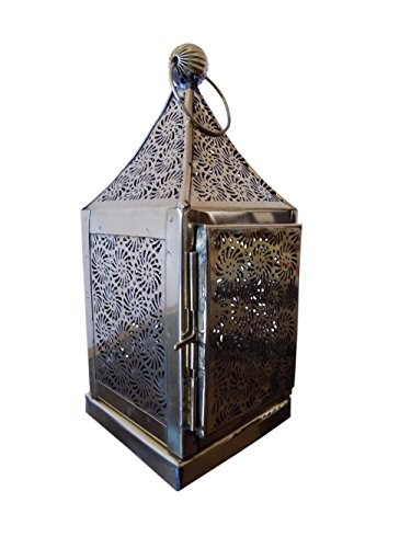 Antique Vinatge Look Brass Hanging Moroccan Votive Candle Lantern Home - Antique Brass Votives