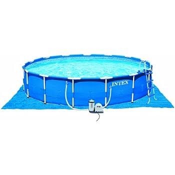 Amazon.com: Intex Metal Frame Pool Set, 18-Feet by 48-Inch: Garden ...