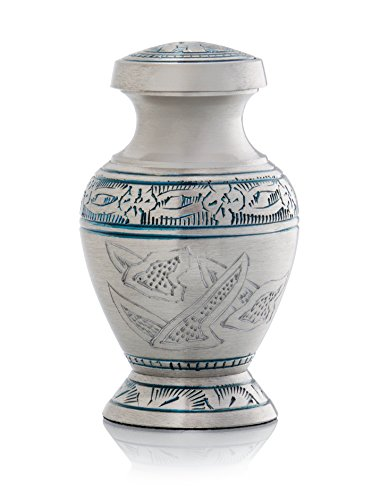 SmartChoice Urn Keepsake for ashes Brass Cremation Urn Keepsake for Human Ashes - Affordable Funeral Keepsake Urn for Ashes Handcrafted Urn (Wings of (Dove Urn)