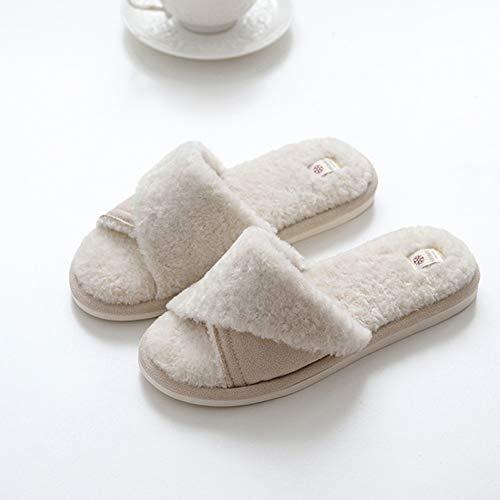 d'hiver Couleur 38 39 en Et Pantoufles Femme Doux Taille Blanc Intérieur Plateforme Automne TD Coton Pink OAgvYxqw