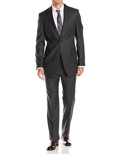 LN LUCIANO NATAZZI Mens Suits 2 Button Modern Fit Side Vent Narrow Stripe Suit (52 Regular US / 62R EU/W 46
