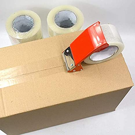3 inch Core Office and Storage MJUNM Heavy Duty Packaging Tape Shipping Commercial Grade Carton Sealing Adhesive Industrial Tape Clear Packing Tape for Moving Boxes 1.88 x 60 Yards X 12 Rolls