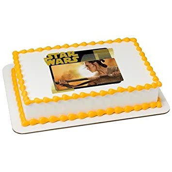 Amazoncom Star Wars Rey Licensed Edible Cake Topper 19089