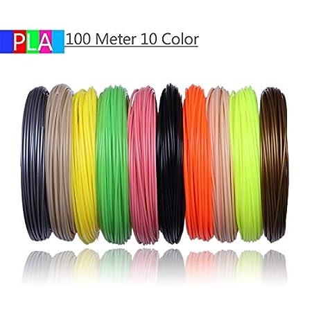 Shi-y-m-3d, Filamentos de Impresora 3D 200 Metros 20 Colores Pluma ...