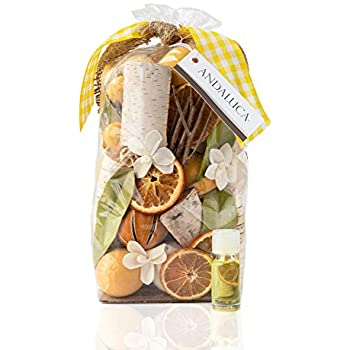 Andaluca Lemon Zest & Thyme Scented Potpourri | Made in California | Large 20 oz Bag + Fragrance Vial | Citrus Spice Scent