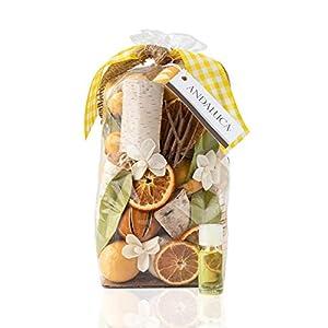 Andaluca Lemon Zest & Thyme Scented Potpourri | Made in California | Large 20 oz Bag + Fragrance Vial