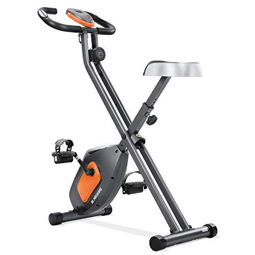 MaxKare Exercise Bike Stationary Folding Magnetic Exercise Bike Machine Magnetic with Adjustable Resistance Pulse LCD…