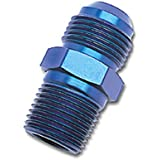 """Russell 660460 Blue Anodized Aluminum -6AN Flare to 3/8"""" NPT Pipe Adapter"""