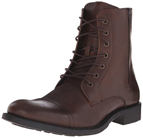 Kenneth Cole Unlisted Men's Blind Turn Combat Boot, Brown, 9.5 M US