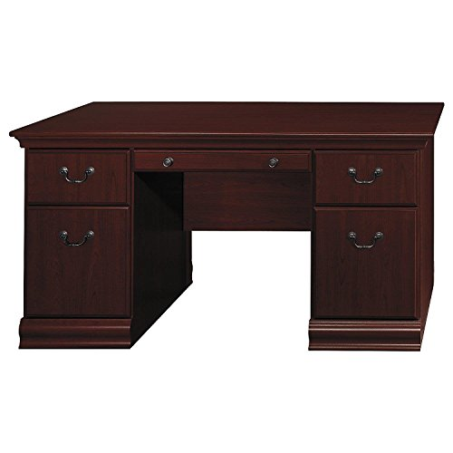 Bush Furniture Birmingham 60W Executive Desk in Harvest (Cherry Executive Desk)