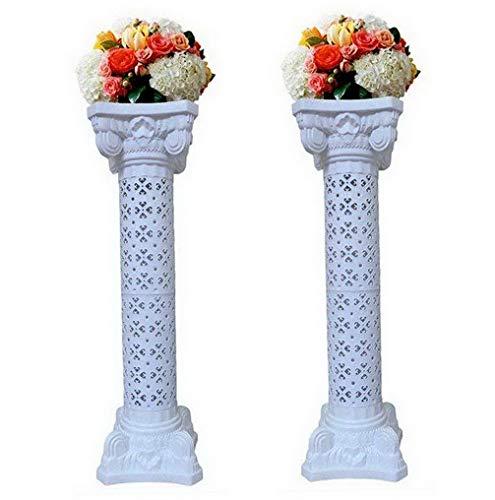 Hemau 2Pcs Elegant Roman Column Set Pillars Decoration Flower Pot Columns Decor Roman Columns for dings | Model WDDNG -1810 | (Driftwood Column)