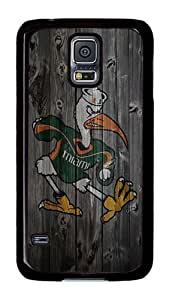 Samsung Galaxy S5 Case, S5 Case - Cool Design Wood New Ibis Pattern Polycarbonate Hard Case Cover for Samsung Galaxy S5 I9600 Black