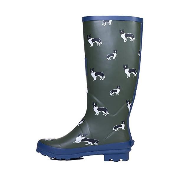 Spylovebuy Igloo Women's Adjustable Buckle Flat Festival Wellies Rain Boots 4