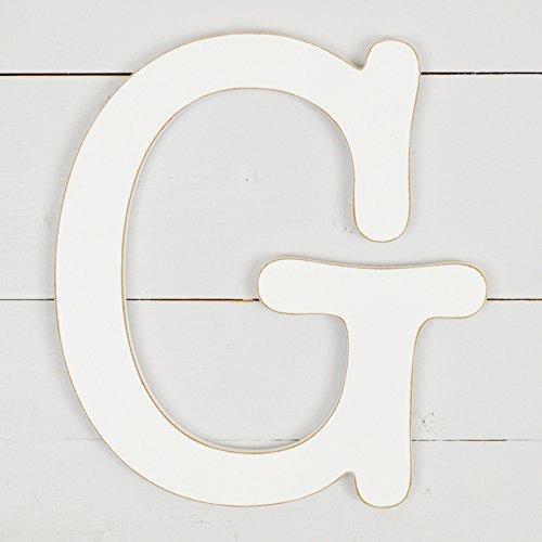 UNFINISHEDWOODCO 11.5'' Typewriter Wall Decor Letter G- White