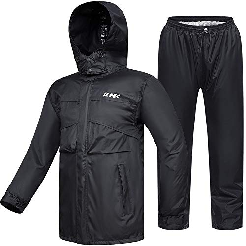 ILM Motorcycle Rain Suit Waterproof Wear Resistant 6 Pockets 2
