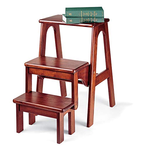 Mahogany Folding Library Steps