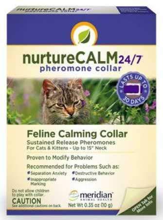 "NurtureCALM 24/7 Feline Calming Pheromone Collar (Upto 15"" Neck)"