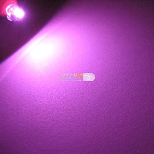 pink Flachkopf superhell Set world-trading-net 50 LED 4,8mm wasserk Diode Leuchtend als Bauteil Leuchtdiode bedrahtet
