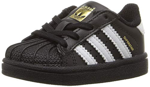 adidas Originals Baby Superstar Running Shoe, Black White, 10K M US Toddler