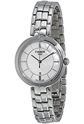 Tissot Flamingo Mother of Pearl Dial Stainless Steel Ladies Quartz Watch T0942101111100
