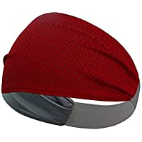 SKUDGEAR Multipurpose Double Sided Vented Headband Anti Slip Yoga Sport Athletic Hair Band for Men and Women