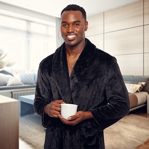 Full-length plush bathrobe