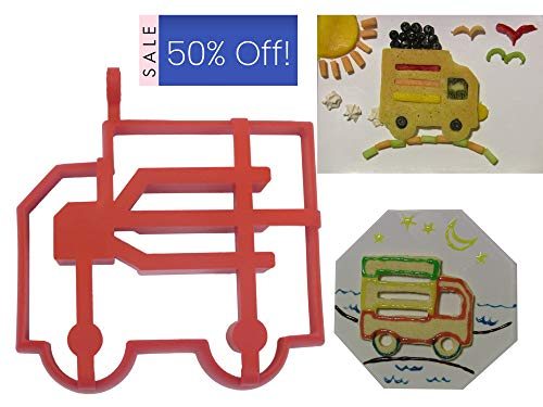 FUN NEW FEATURE FOR KIDS, SYRUP FLOWS THROUGH PANCAKE, Silicone Truck Pancake or Egg Mold