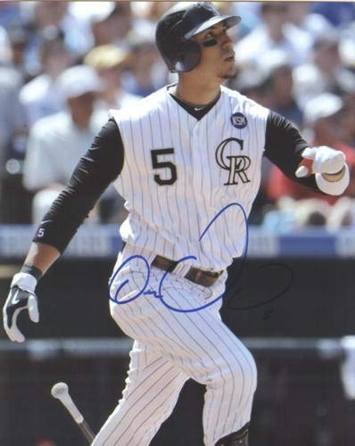 Carlos Gonzalez Autographed Signed Auto Colorado Rockies Batting 8x10 Photograph - Certified ()