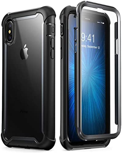 i-Blason Cover iPhone X, Custodia Rigida a 360 gradi Protezione dello Schermo Integrata [Serie Ares] TPU Bumper Rugged Case per iPhone X 2017 iPhone ...